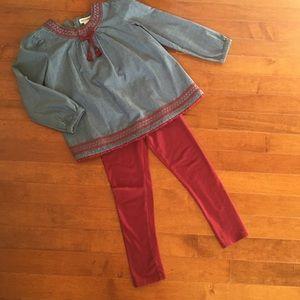ARTISAN NY tunic & leggings set.